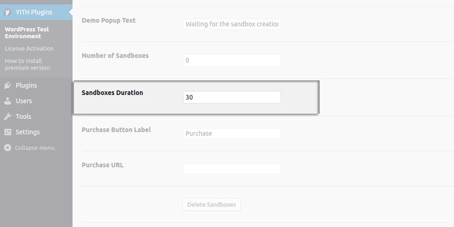Sandbox duration